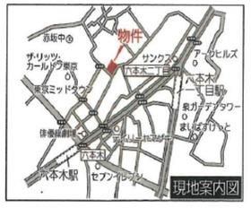 フォレセーヌ赤坂檜坂案内図