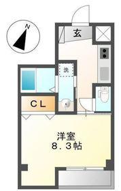 リベル横浜5階Fの間取り画像