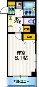 ジョイシティ目黒2階Fの間取り画像