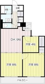 中野島駅 徒歩10分2階Fの間取り画像