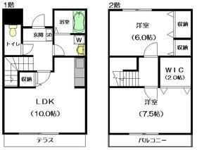 ガーデンテラス和田1-2階Fの間取り画像
