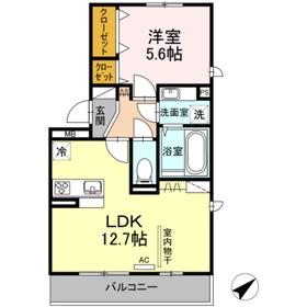 グランドヴィラ3階Fの間取り画像