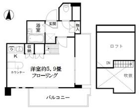 アート・フル上石神井Ⅱ4階Fの間取り画像