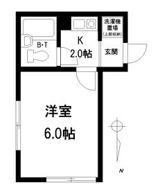 コーポ田口2階Fの間取り画像