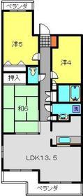 綱島駅 徒歩10分1階Fの間取り画像
