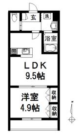 カーサ・ドゥーエ2階Fの間取り画像