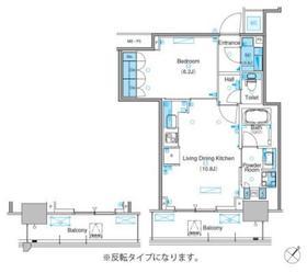 パークアクシス豊洲キャナル16階Fの間取り画像