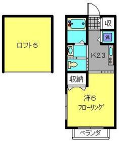 セントソレイユ ヨコハマ2階Fの間取り画像