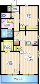 VILLETA 横濱港南3階Fの間取り画像