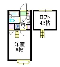 アネックスカオル2階Fの間取り画像