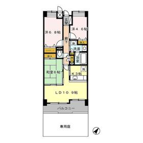 本厚木駅 バス9分「妻田」徒歩4分2階Fの間取り画像