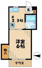 京王永山駅 徒歩23分地下1階Fの間取り画像