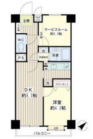 ライオンズマンション鶴見中央2階Fの間取り画像