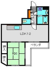 ピアフローラー5階Fの間取り画像