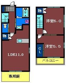 レイクハイツ1階Fの間取り画像
