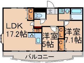FIFTH FRONTIER6階Fの間取り画像