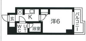 スパシエソリデ武蔵小杉5階Fの間取り画像