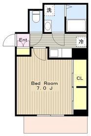 ピエ リヴェール2階Fの間取り画像
