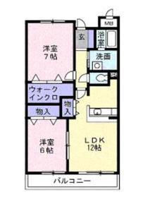 グランシャンミリュー3階Fの間取り画像