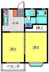 メゾンドアライC2階Fの間取り画像