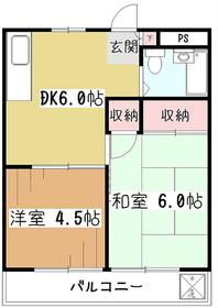 メビウス杉田3階Fの間取り画像