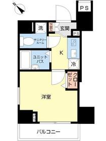 スカイコート田端第311階Fの間取り画像