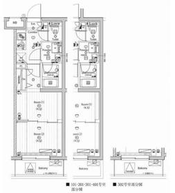 プレミアムキューブ武蔵新田4階Fの間取り画像
