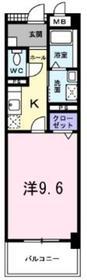 桜並木パークマンション3階Fの間取り画像