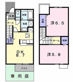 ファミーユ1階Fの間取り画像