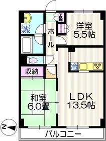 アルト3階Fの間取り画像