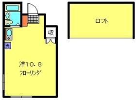 ラックスハイツ2階Fの間取り画像
