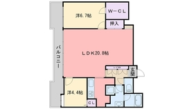 ネクサス百道レジデンシャルタワー4階Fの間取り画像