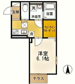 向ヶ丘遊園駅 徒歩7分1階Fの間取り画像