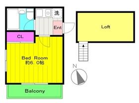 宿河原駅 徒歩12分2階Fの間取り画像