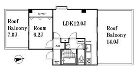 クォーレ柿の木坂3階Fの間取り画像
