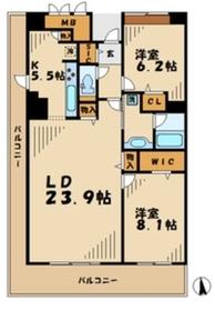 ロイヤルパークス若葉台7階Fの間取り画像