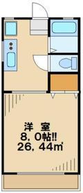 バンブーヒル1階Fの間取り画像