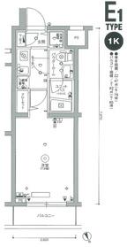 スカイコート品川東大井4階Fの間取り画像