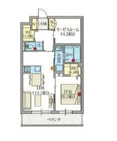 ヘーベルVillage世田谷桜丘2階Fの間取り画像