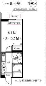 妙蓮寺駅 徒歩21分3階Fの間取り画像