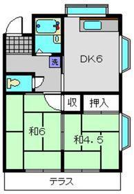 代官山ハイツ2号1階Fの間取り画像