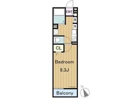 リブリ松木3階Fの間取り画像