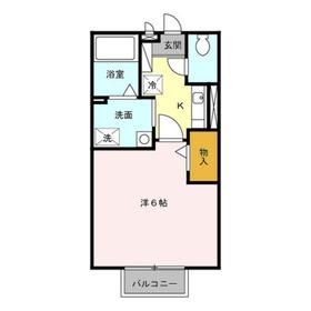 アーバンハイム2階Fの間取り画像