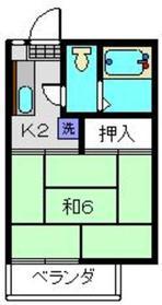 エンゼルコーポ2階Fの間取り画像