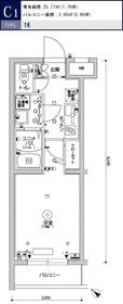 スカイコートパレス駒沢大学Ⅱ4階Fの間取り画像