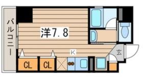 マイスターハウス川崎7階Fの間取り画像