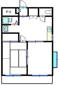 南糧三春台ビル2階Fの間取り画像
