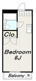 ニューパリヤ23階Fの間取り画像