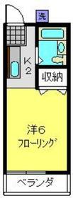 ボヌール二番館2階Fの間取り画像