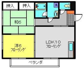 新川崎駅 徒歩4分1階Fの間取り画像